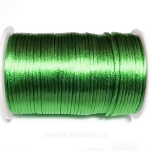 Snur saten verde 2mm 1 m