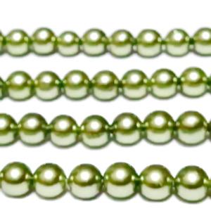 Perle stil Mallorca, kaky deschis, 8mm 1 buc