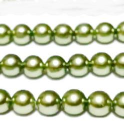 Perle stil Mallorca, kaky deschis, 10mm 1 buc