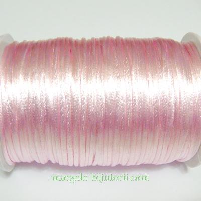 Snur roz deschis saten 2mm 1 m