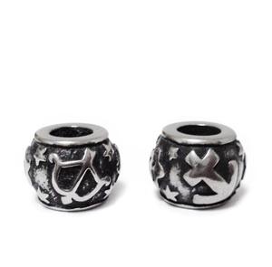 Margele otel inoxidabil 316, stil Pandora, cu aspect tibetan, 11x9mm, zodiac, sagetator 1 buc