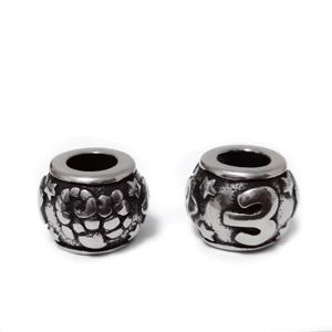 Margele otel inoxidabil 316, stil Pandora, cu aspect tibetan, 11x9mm, zodiac, berbec 1 buc