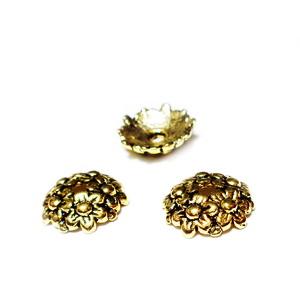 Capacel auriu antic, 11x3mm 1 buc
