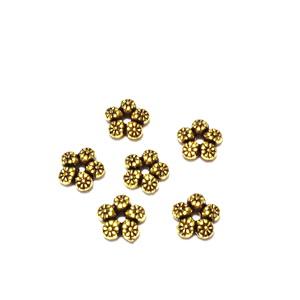 Distantier auriu antic, cu 5 petale, 7x2mm 1 buc