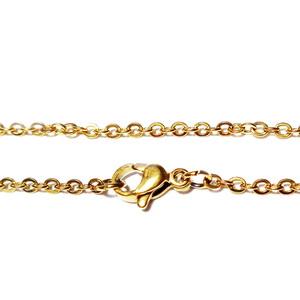 Lant otel inoxidabil 304, auriu, cu inchizatoare, zale 2x0.3mm, lungime 45cm 1 buc