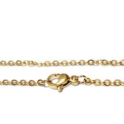 Lant otel inoxidabil 304, auriu, cu inchizatoare, zale 2x0.2mm, lungime 60cm 1 buc