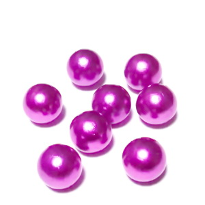 Perle plastic 8mm, FARA ORIFICIU, mov 1 buc