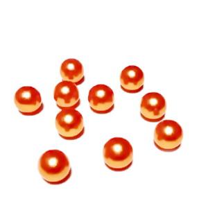 Perle plastic 8mm, FARA ORIFICIU, portocalii 1 buc