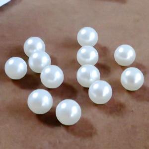 Perle plastic 8mm, FARA ORIFICIU, albe 1 buc