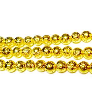 Hematite nemagnetice, stardust, placate auriu, 5mm 1 buc