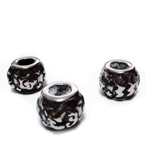 Margele otel inoxidabil 316, stil Pandora, cu aspect tibetan, 11x9mm, zodiac, varsator 1 buc