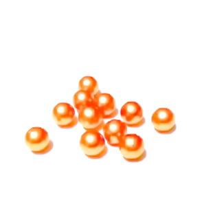 Perle plastic 6mm, FARA ORIFICIU, portocalii 1 buc