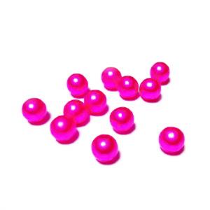 Perle plastic 6mm, FARA ORIFICIU, fucsia 1 buc