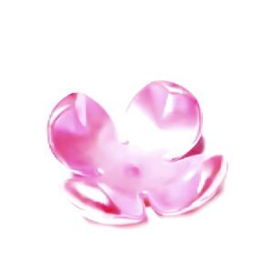 Flori plastic, perlate, roz, 24x24x11mm 1 buc