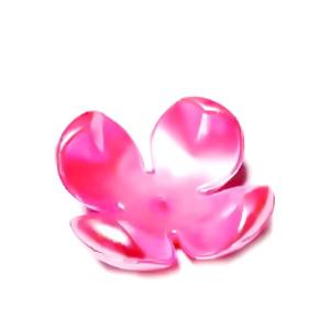 Flori plastic, perlate, fucsia, 24x24x11mm 1 buc