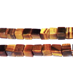 Ochi de tigru, cubic, 5~6x5~6mm 1 buc