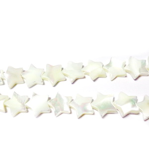 Stelute sidef ocean alb, 10x3mm 1 buc