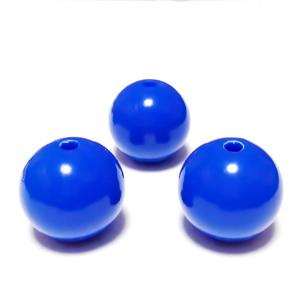 Margele plastic, albastru cobalt, 20mm 1 buc