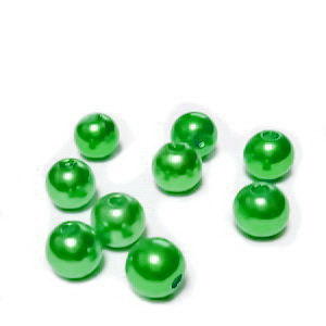 Perle plastic ABS, imitatie perle, verde deschis, 8mm 10 buc