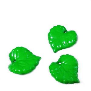 Frunzulite plastic verde, 16x16x2mm 1 buc