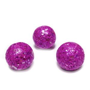 Margele polymer, prelucrate manual, violet cu insertii sidef multicolor, 11-12mm 1 buc