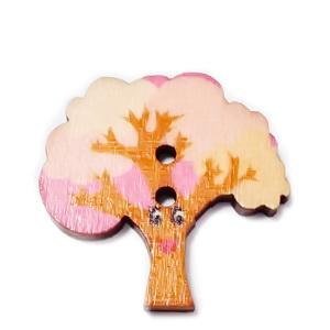 Nasturi lemn, copac roz, 28x28x2mm 1 buc