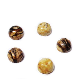 Cabochon jasp picture, 6x3mm * 1 buc