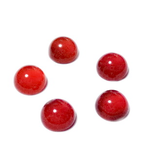 Cabochon carneol, 6x3mm * 1 buc