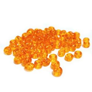 Margele nisip, portocalii, transparente, 4mm 20 g