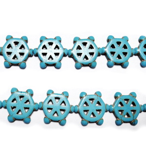 Howlit albastru, timona 16x3mm 1 buc