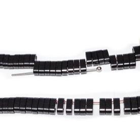Hematite nemagnetice, negre, cu 2 orificii, 6x3mm 1 buc