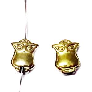 Hematite nemagnetice, placatre aurii, bufnita 18x8x3mm 1 buc