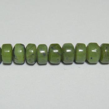 Jad canadian, rondel, 6x4 mm 1 buc