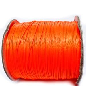 Snur pt bratari shamballa, portocaliu fosforescent, grosime 0.6mm 1 m