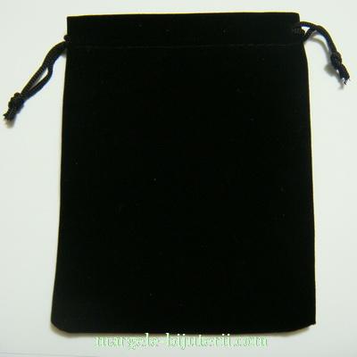 Saculet catifea negru, 11x9cm 1 buc