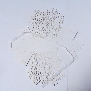 Cutie carton, perforata, alb sidefat, 9x6x6cm 1 buc