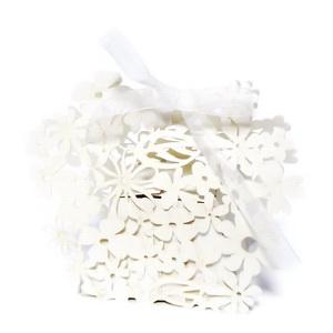 Cutie carton, perforata, alb sidefat, 10x8cm, interior 4.5x4.5cm 1 buc