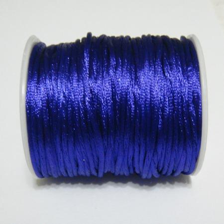 Snur saten violet inchis, 2mm 1 m