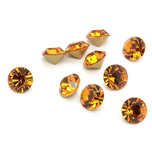 Swarovski Elements, Xirius Chaton 1088 PP10, Topaz 1.6mm 10 buc