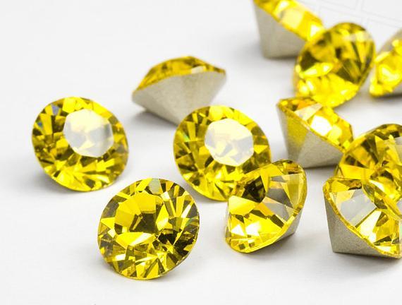 Swarovski Elements, Xirius Chaton 1088 PP10, Light Topaz 1.6mm 10 buc
