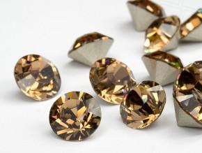 Swarovski Elements, Xirius Chaton 1088 PP10, Light Smoked Topaz 1.6mm 10 buc