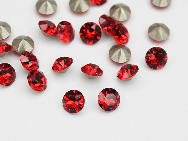 Swarovski Elements, Xirius Chaton 1088 PP10, Light Siam1.6mm 10 buc