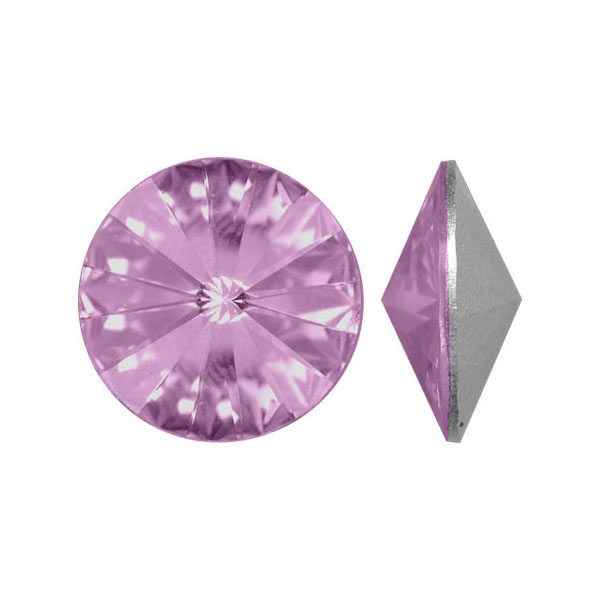 Swarovski Elements, Rivoli 1122 - Light Amethyst, 14mm 1 buc