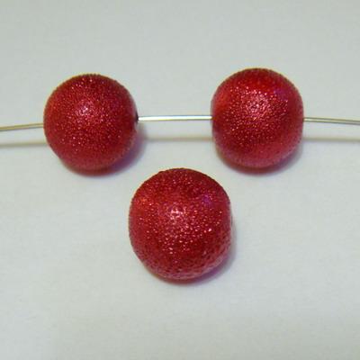 Perle sticla, stardust, bordo, 12 mm 1 buc