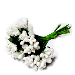 Buchet 12 flori albe, 7-8 cm 1 set