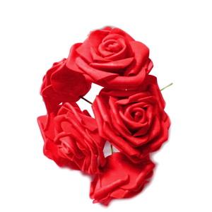 Set 6 trandafiri rosii din burete 1 buc