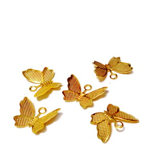 Pandantiv filigran auriu, fluturas, 10.8x13.2x0.3mm 1 buc