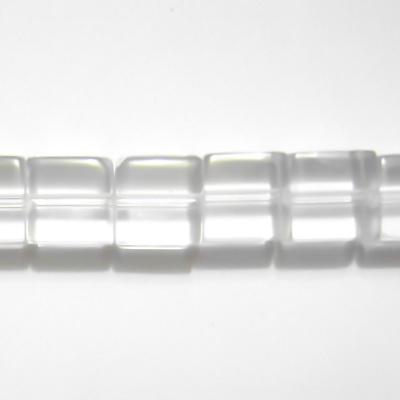 Margele sticla cubice transparente 8x8mm 10 buc