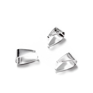 Agatatoare pandantiv, placata cu argint, 9x5mm 1 buc