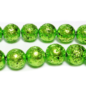 Lava electroplacata, verde deschis, 8~9mmmm 1 buc